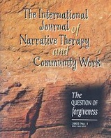 Cover of the Int'l Journal of Narrative Therapy and Community Works